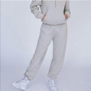 Aritzia Pure Fleece Boyfriend Sweatpants Gray